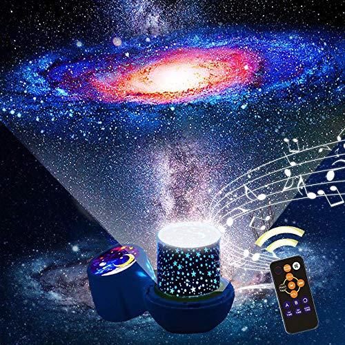 「令和最新版 リモコン式」スタープロジェクターライト音楽再生 星空ライト スターナイトライト,Ruluniky クリスマス プラネタリウム ベッドサイドランプ 常夜灯 雰囲気を作り 星空投影 タイマー付 多色変更可能 6 セット投影映画360度回転 USB