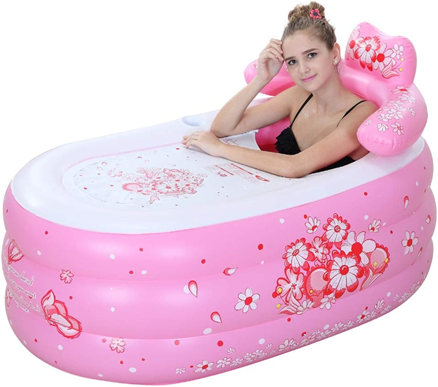 Meters Inflatable Bathtub   Folding Bathtub Thick Plastic Bath Tub with Pillow - Keep Warm, Ideal for Indoor & Outdoor Use