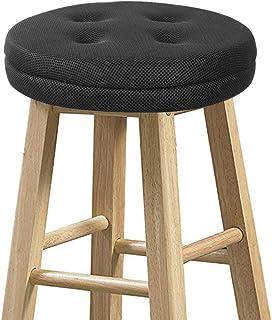 "Best baibu Bar Stool Cushions, Super Breathable Round Bar Stool Covers Seat Cushion Round with Elastic Black 13"" - Cushion Only Reviews"