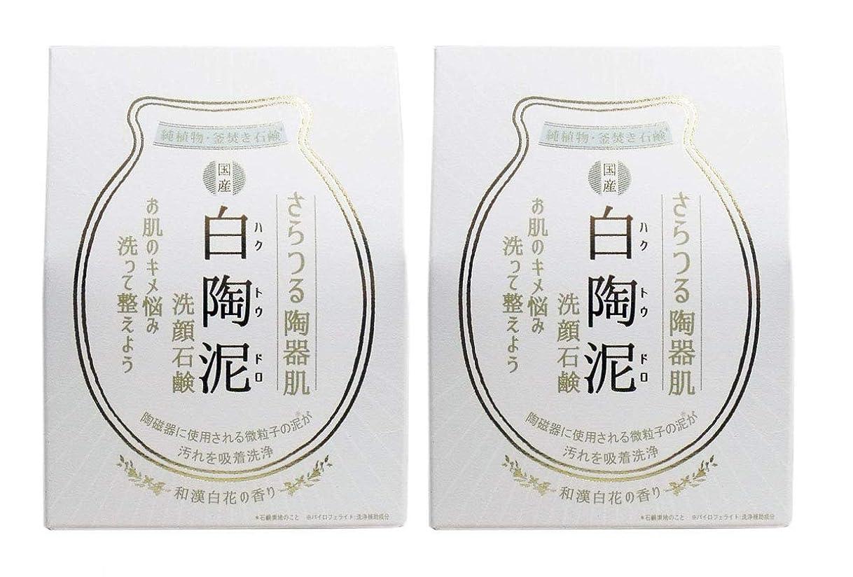浴室カエル戻すペリカン石鹸 白陶泥洗顔石鹸 100g×2個セット