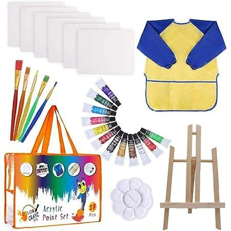 Niños de la Pintura del Dibujo del Sistema Kit de Suministros de Pintura Cepillos Lienzo Paleta de Caballete Art Crafts de bebé del niño Productos del hogar Ducha