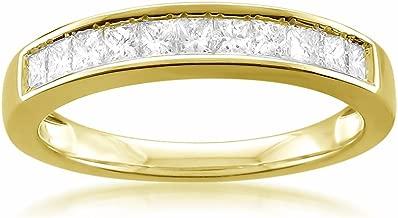 14k Yellow Gold Princess-cut 11-Stone Diamond Bridal Wedding Band Ring (1/2 cttw, J-K, SI1-SI2)