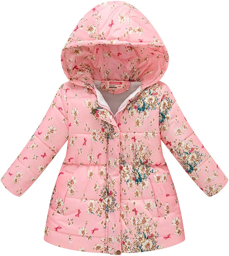 SHUBHU Kid Baby Floral Warm Cotton Medium and 2021 autumn winter new Section Long Hoode Seattle Mall