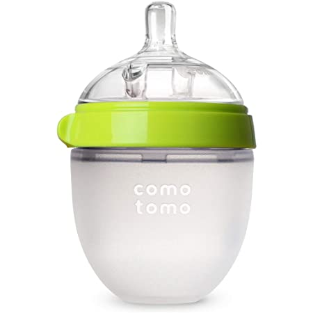 Comotomo Natural Feel Baby Bottle, Green, 5 Ounce