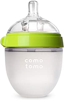 Comotomo Natural Feel Baby Bottle, Green, 5 Ounce