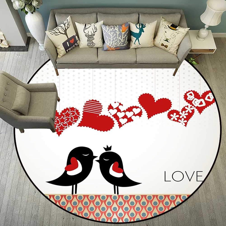 Circle Floor mat Door Round Indoor Floor mat Entrance Circle Floor mat for Office Chair Wood Floor Circle Floor mat Office Round mat for Living Room Pattern 5'3  Diameter