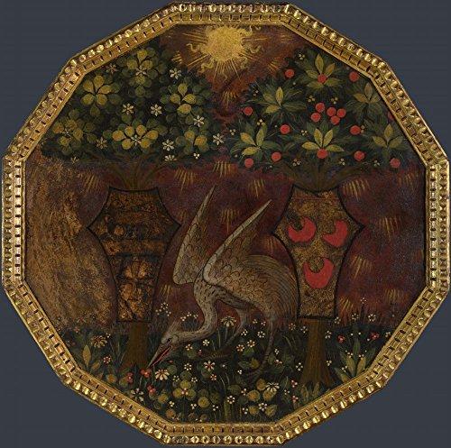 The Museum Outlet – Atelier d'Apollonio di Giovanni et atelier de Marco DEL Buono – Plateau de naissance – Le Triomphe de l'amour (1), toile tendue Galerie enveloppé. 50,8 x 71,1 cm
