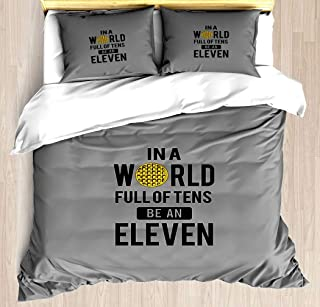 FEIDANNO Stranger Things Duvet Cover Set Twin Size,Popular TV Themes,Decorative 3 Piece Bedding Set with 2 Pillow Shams (Color 16, Twin)