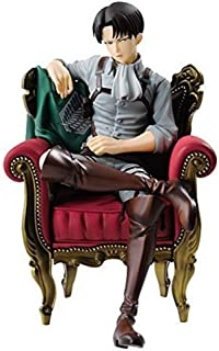 From HandMade Figura Figura de acción de Ataque En Titán Figura Levi Ackerman Sofá Postura sentada Figura Animado