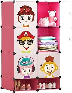 Coffee Table FHW Garde-Robe des Enfants coulissantes Motif Cartoon Porte économie Accueil Moderne Minimaliste Fille assemb...