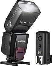 فلاش لاسلكي، أندور سبيدلايت GN50 يدعم شاشة فلاش LCD 100 متر 5600k مع غطاء كاميرا عالمية مع مشغل فلاش لكاميرا كانون نيكون لكاميرات سوني A7 / A7 II / A7S/ A7R/ A7S II