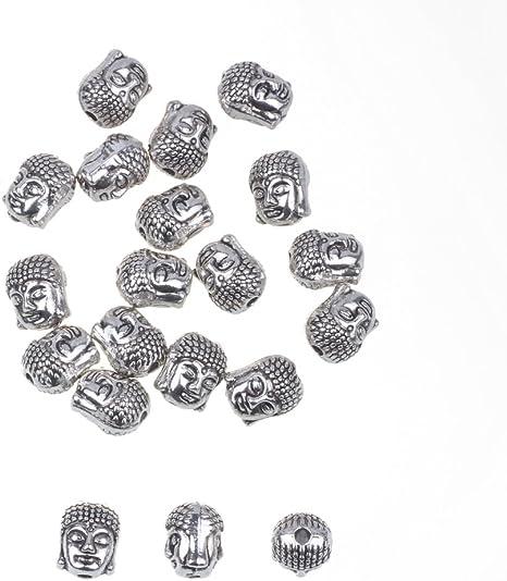 20pcs Gun Metal Plated Double Sided Buddha Beads for Buddha Bracelet Buddha Necklace Buddha Jewelry