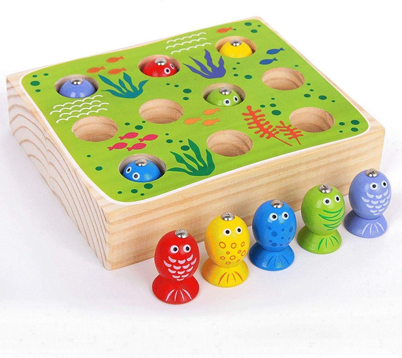Little Toys Kinderspielzeug Massivholz Magnetische Fischerei Frühkindliche Bildung Baby Spielzeug Puzzle Junge Mdchen Kindergarten Eltern-Kind Interaktives Spielzeug (Kapazitt   A)