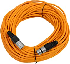 SEISMIC AUDIO - SAXLX-100 - 100' Orange XLR Male to XLR Female Microphone Cable - Balanced - 100 Foot Patch Cord