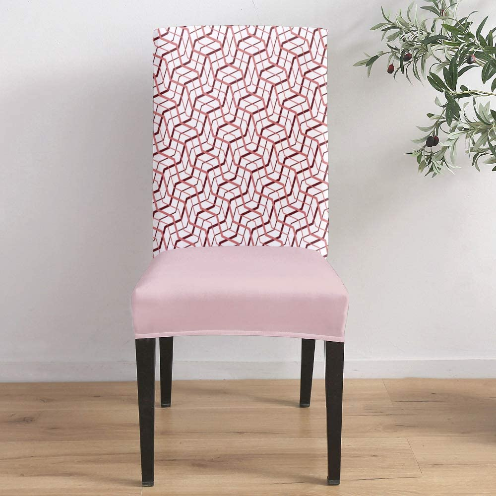 Dining Room Ranking TOP16 Outstanding Stretch Chair Cover Geometric Chai Slipcover Pattern