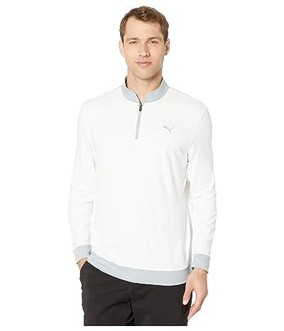 PUMA Golf Stealth 1/4 Zip (Bright White) Men