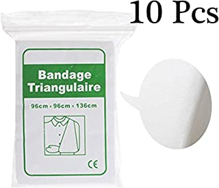 BYBYCD 10 Pcs Triangular Bandage Emergency Survival Sling First Aid Supplies, Medical Gauze Roll for Stretch Wrist Wraps, Non Sterile, Non-Woven