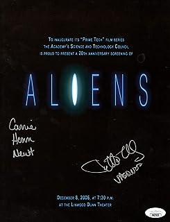 Carrie Henn Jenette Goldstein Dual Autographed Movie Program Aliens JSA HH37653