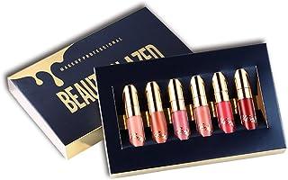 Beauty Glazed 6 PCS Matte Liquid Lipstick Waterproof Profession Lip Makeup Easy To Wear Long Lasting Lip Kit Matte Lip Gloss