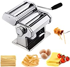CHEFLY Sturdy Homemade Pasta Maker All in one 9 Thickness Settings for Fresh Fettuccine Spaghetti Lasagne Dough Roller Pre...