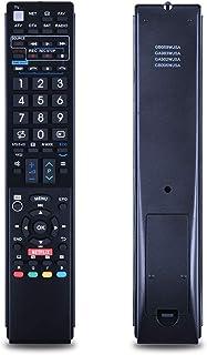 TVリモコン Sharp しゃ゜ぷ シャープ TV専用 テレビリモコン 汎用 シンプル 設定不要 簡単操作 GB058WJSA GA983WJSA GA902WJSA GB005WJSA LC80LE642U LC80LE650 LC80LE650U LC40LE830U LC40LE830UA LC40LE830UB LC40LE832U LC40LE832UB LC40LE835 LC40LE835U 等の機種に対応 (ブラック)