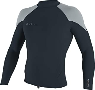 O'Neill Wetsuits Men's Reactor-2 1.5mm Long Sleeve Top, Slate/Cool Grey, Small
