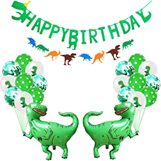24Pcs Party Supplies Set Dinosaur Theme Decorative Fashion Room Layout Happy Birthday Balloons Set Banner For Kids Children