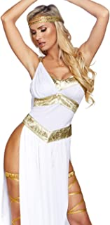 Women's Sexy Golden Greek Goddess Costume