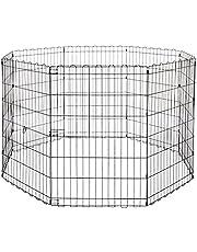 AmazonBasics – Składany metalowy wybieg dla zwierząt domowych, psów, płotu treningowego, 152,4 x 152,4 x