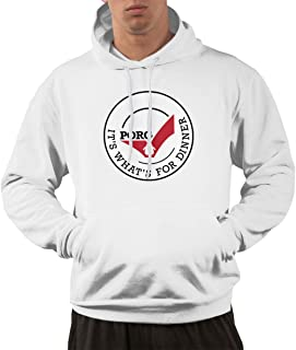 PORG for Dinner Men's Hoodies Sweatshirts Clothing and Sports