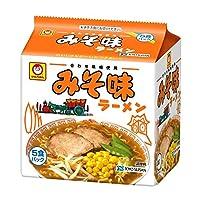 東洋水産 マルちゃん みそ味ラーメン 5食パック×6セット 2ケース