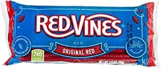 Red Vines Licorice Bars, Original Red Flavor, 2.5oz Bags (24 Pack), Pull Apart Chewy Candy