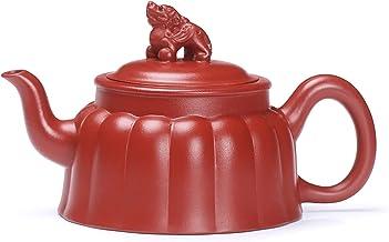 JIAZHOUMA Yixing Zisha czajniczek fioletowa glina dzbanek do herbaty 200 ml czysty ręcznie wykonany zestaw do herbaty Kung...