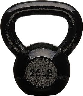 AmazonBasics Enamel Cast Iron Kettlebell - 20 Pounds, Black