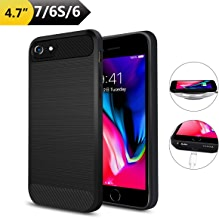 Qi Wireless Charging Case for iPhone 7/6(Not Battery), ANGELIOX Wireless Charger Charging Receiver Back Cover,Soft TPU Protective Case,Brushed Surface Finish,with Cable Charging Port(4.7 inch)