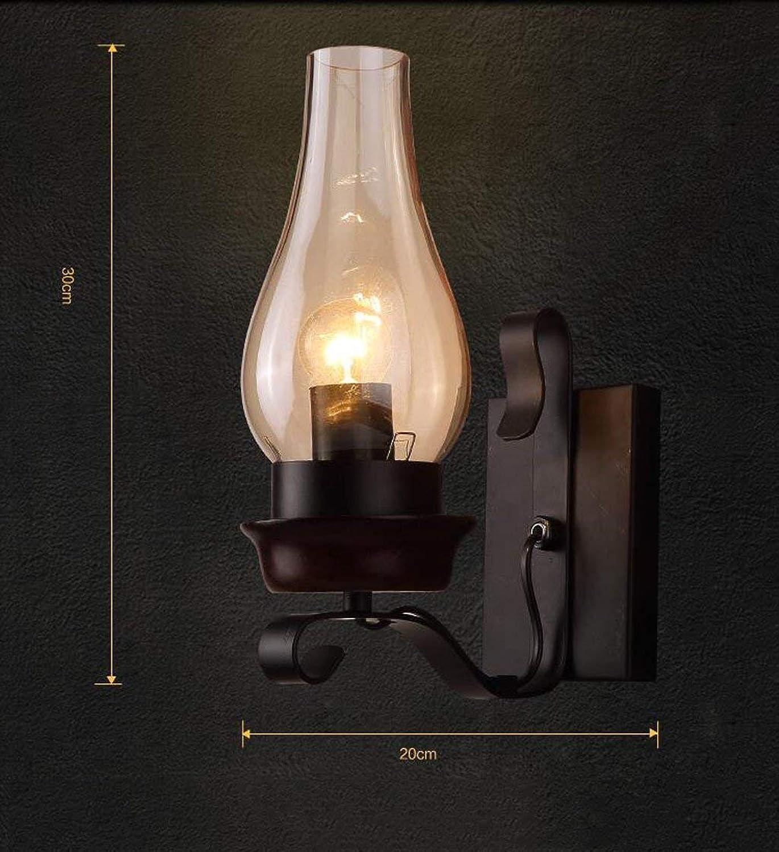 Irinay Nordische Wand Lampe Lampe Licht Minimalistischen Modernen Minimalistischen Schlafzimmer Mit Lampe Wohnzimmer Korridor Treppe Hintergrund Wand Leuchten Ein Wandlampe Vintage (Farbe   A-Größe)