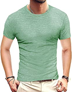 Mens Slim Fit T Shirts Short Sleeve Crew Neck Casual Workout Tops