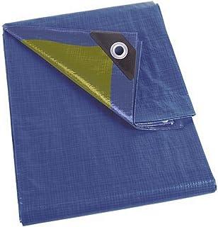 Perel 110-0508 Lona, Azul y Caqui, 5 x 8 m