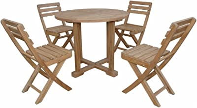Anderson Teak Montage Alabama Bistro Furniture Set, Navy