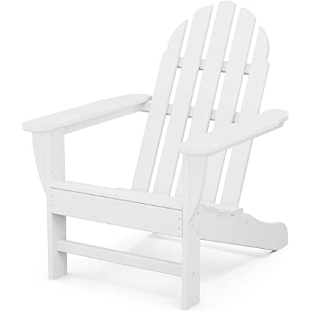 Amazon Com Polywood Vineyard Adirondack Chair Garden Outdoor