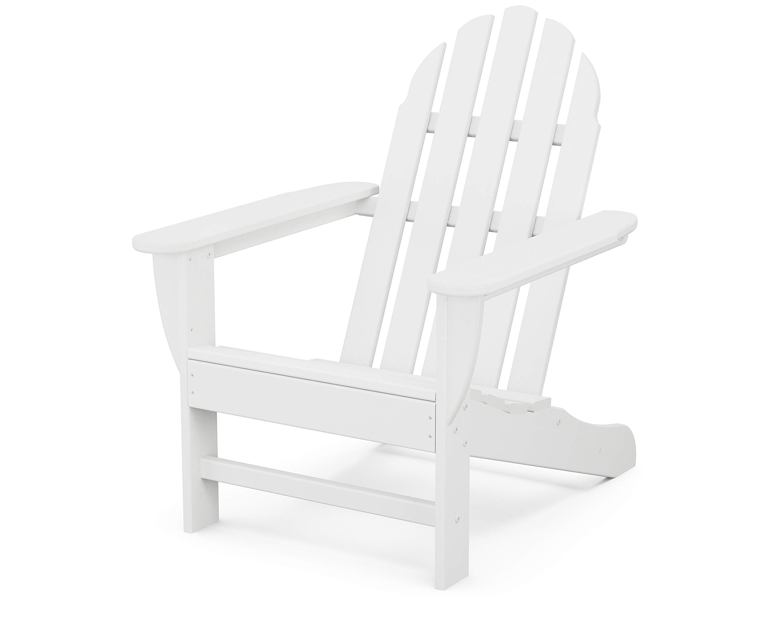 POLYWOOD AD20WH Classic Outdoor Adirondack Chair, White  Amazon ...