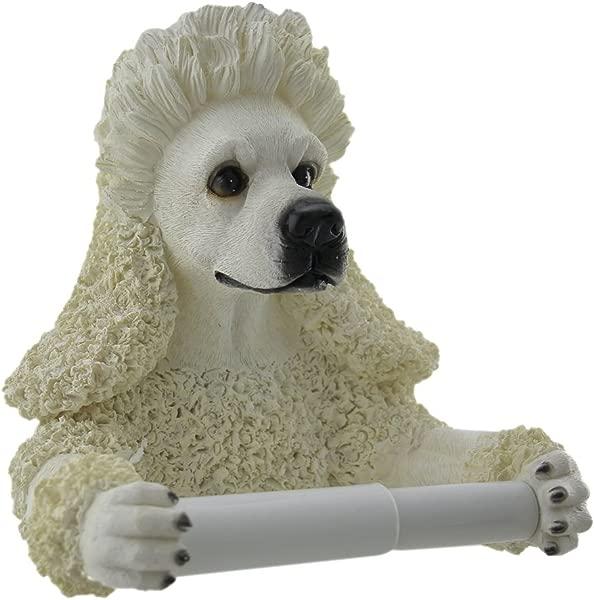 Zeckos Poodle Pal Hanging Single Roll Toilet Paper Holder