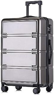 YUMILI Caster Luggage Trolley Case Fashion Casual Zipper Suitcase (Color : E, Size : 24inch)