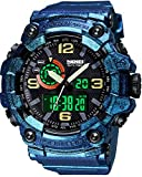 Men's Watches Multi Function Military S-Shock Sports Watch LED Digital Waterproof Alarm Watches...