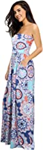Leadingstar Women's Floral Casual Beach Party Maxi Dress