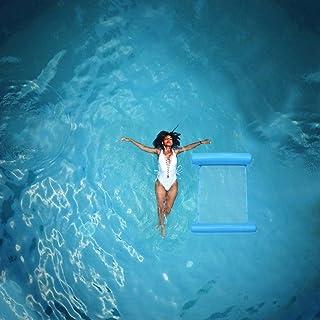 Veemoon Cama Flotante Inflable Hamaca de Agua Plegable Piscina Salón Piscina Playa Juguete para Adultos Niños