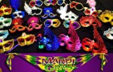 Wholesale Lot of 10 Mardi Gras Masks Masquerade Party Bulk Sale