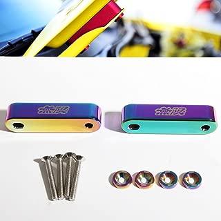 Mugen Style Hood Spacers Risers Pair Set Titanium Neo Chrome for Integra/Honda Civic/Del Sol/CRX