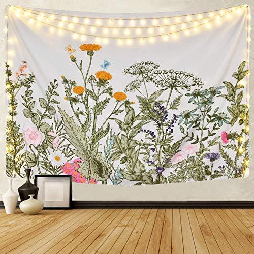 Mazheny, Tarot-Tapisserie Wandteppich, mittelalterliche europäische Wahrsagerei, Wandbehang, Heimdekorationen, Geheimnisvoll, für Wohnzimmer, Schlafzimmer, Wohndekor, Blumenpflanzen, 59