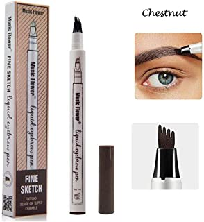 Eyebrow Tattoo Pen-LilyAngel Waterproof Microblading Eyebrow Pencil with a Micro-Fork Tip Applicator Creates Natural Looking Brows Effortlessly(Chustnut,1 pack)